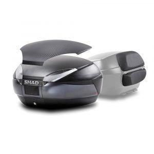 Baules para moto 2 cascos con respaldo