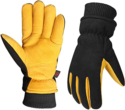 Guantes de invierno amarillo