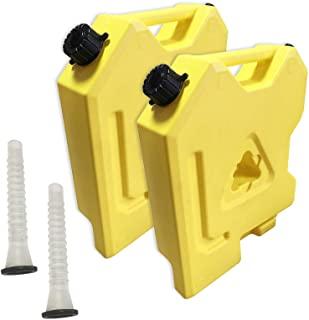 Recipientes para gasolina amarillo